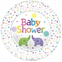 Tallerkener Baby Shower Elefant, 8 stk.
