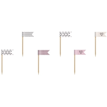 Cupcake Stickers med Flag 6 stk