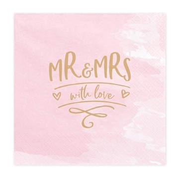 "Frokostserviet ""MR & MRS with love"""