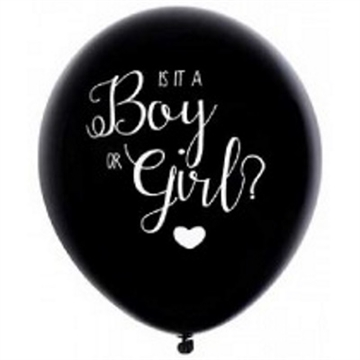 Gender Reveal Ballon Blå Konfetti
