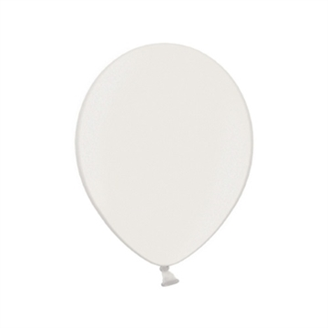 Latex Ballon Metallic Hvid