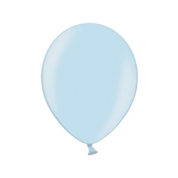 Latex Ballon Metallic Lyseblå 4 stk