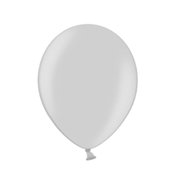 Latex Ballon Metallic Sølv