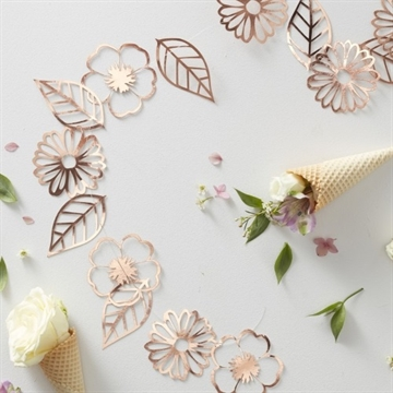 Rose Gold Blomster Ranke