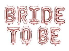 """Bride To Be"" Folie Ballon Rose Gold"
