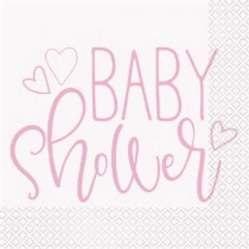 BABY shower pink 16 stk