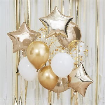 Ballon Dekoration i Metallic Guld Tema