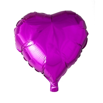 Folie Ballon Hjerte Hot Pink