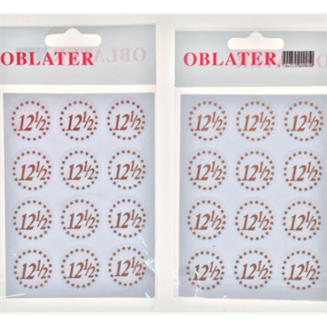 """12 1/2"" Stickers/Oblater"