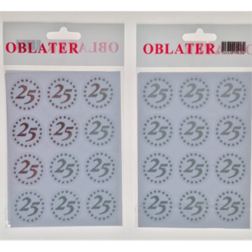 """25"" Stickers/Oblater"