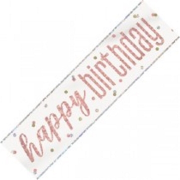 "Rose Gold Banner ""happy birthday"""